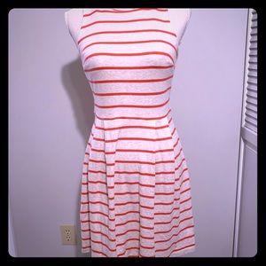 Ann Taylor LOFT striped summer dress
